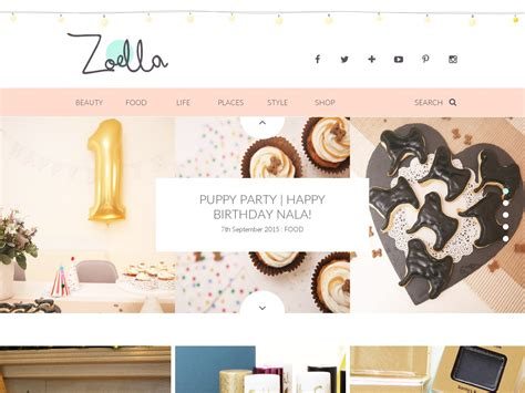 lifestyle blog design view www zoella co uk idthed