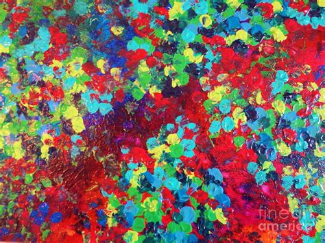 abstract pattern painting pond in pigment bright bold neon abstract acylic floral