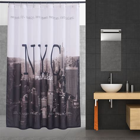 curtain fabric nyc new york scenery 3d modern shower curtain waterproof