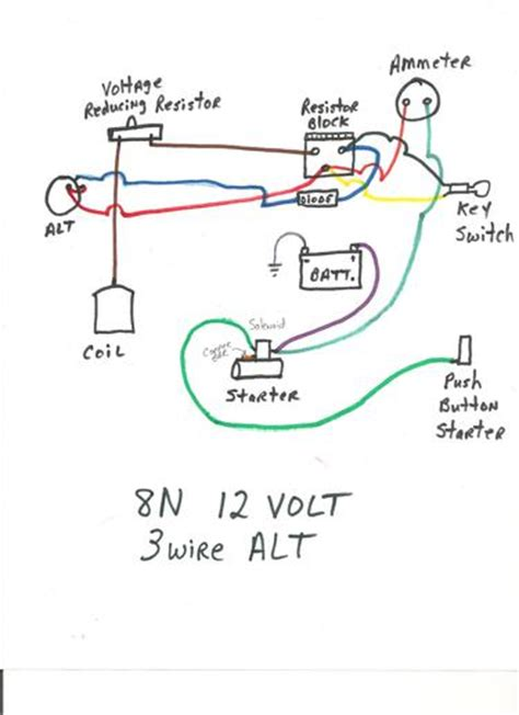 ford 8n wiring diagram yesterday s tractors readingrat net