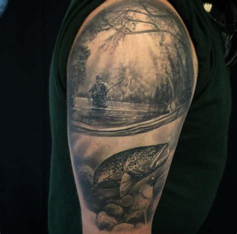 fly fishing tattoos fly fishing arm fish tattoos