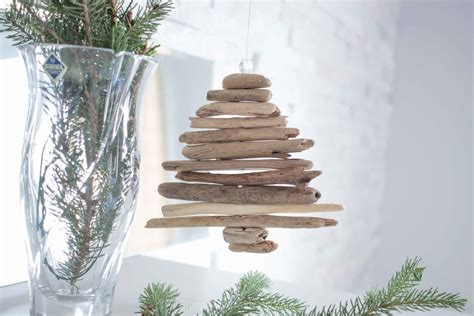 miniature diy driftwood christmas tree ornament sustain