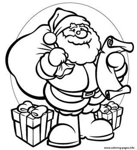 printable poster to color gifts santa 944b coloring pages printable