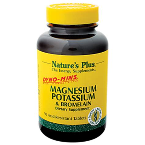 Sale Nature S Plus Dynomins Magnesium 250mg 90 Tablets product image for magnesium potassium bromelain dyno mins 90 tablets
