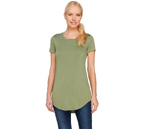 logo layers by lori goldstein scoop neck curved hem knit logo layers by lori goldstein short sleeve scoop neck top