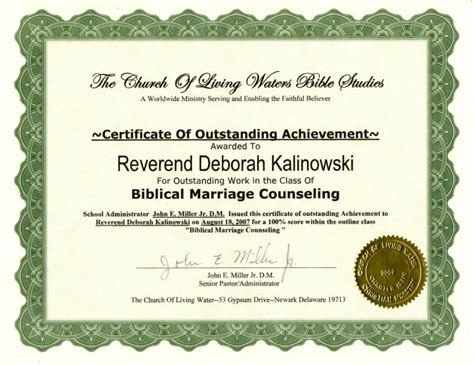 premarital counseling certificate of completion template premarital counseling completion certificate pictures