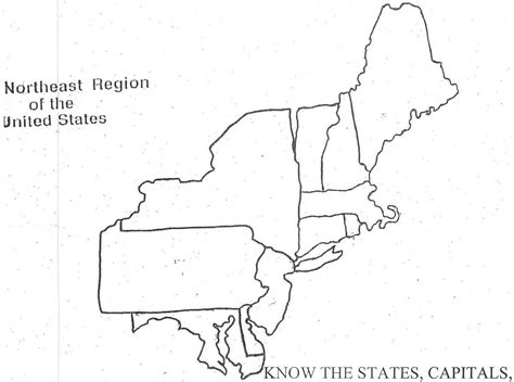 blank map of regions of united states empty united states map us northeast region map blank
