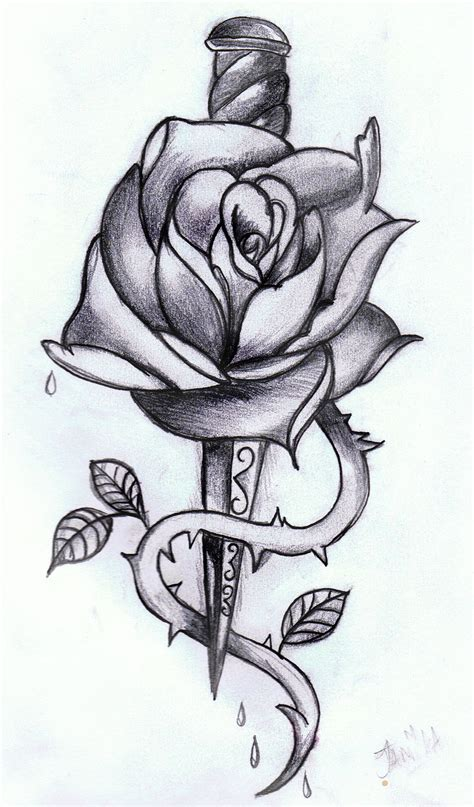 rose dagger by xmidna on deviantart