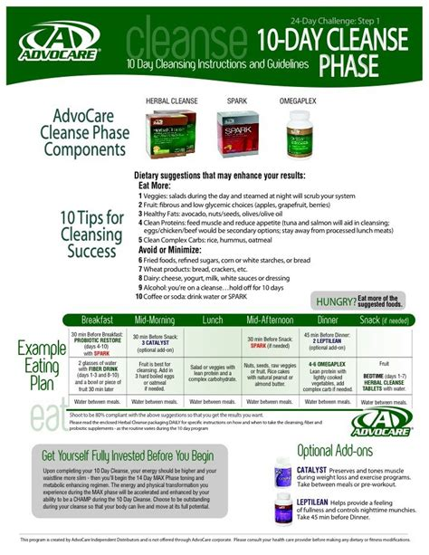 24 Day Detox Advocare by 24 Day Challenge Www Advocare 130533654