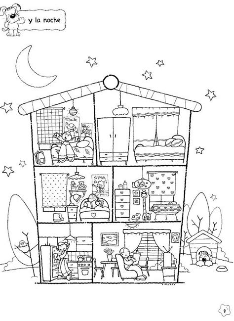 spanish family coloring page 509 best בתים images on pinterest activities art