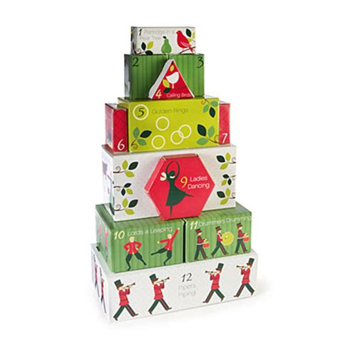 view 12 days of christmas tower snack gift set deals at
