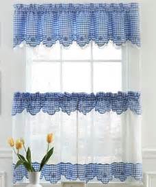 provence gingham kitchen curtains available in blue