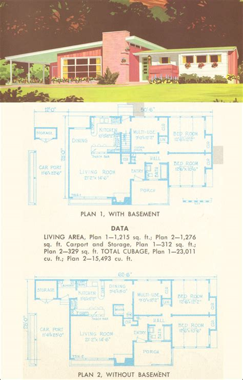 mid century modern plans house plans and design mid century modern house plans