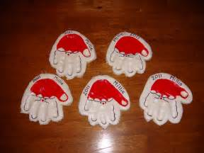 homemade christmas 2 handprint ornaments nasagreen