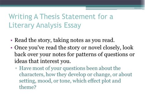 literary theme essay exle the literary analysis essay ppt video online download