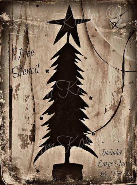 country primitive stencil 9 quot prim star scrapbook signs christmas tree paint stencil star primitive by