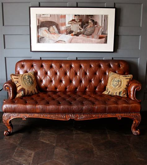 leather chesterfield search craigslist