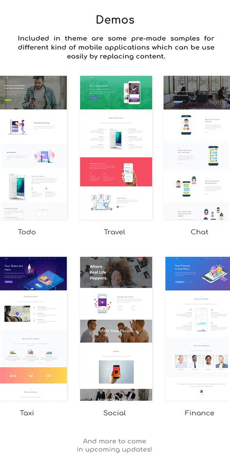 Theapp Responsive Bootstrap Mobile App Landing Page Template By Thethemeio Bootstrap App Landing Page Template