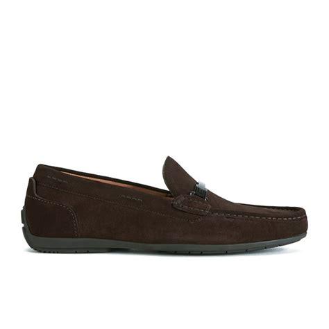 hugo suede loafers hugo s flarro suede loafers brown