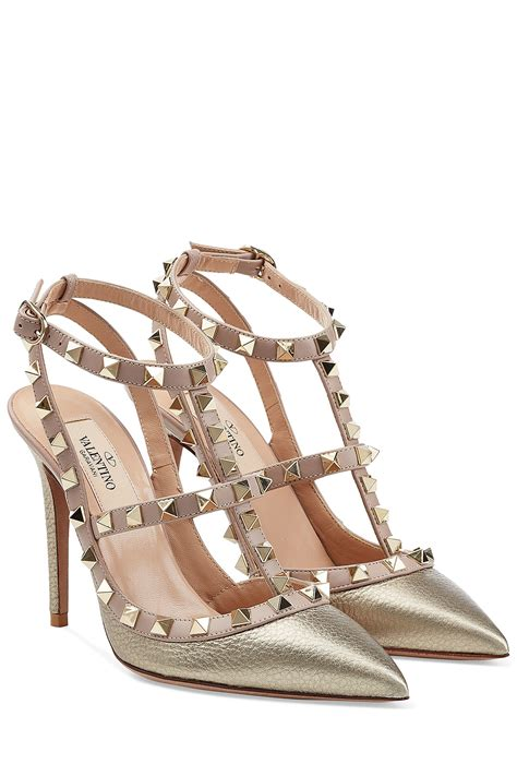 Heels Import Valentino 279 1 lyst valentino rockstud metallic leather pumps gold in