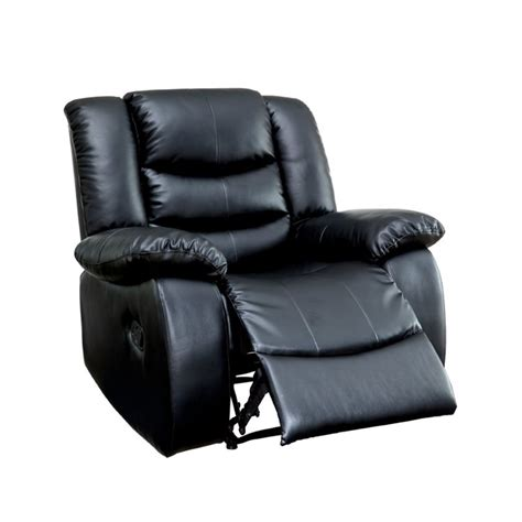 leather sofas torrance furniture of america torrance leather recliner in black