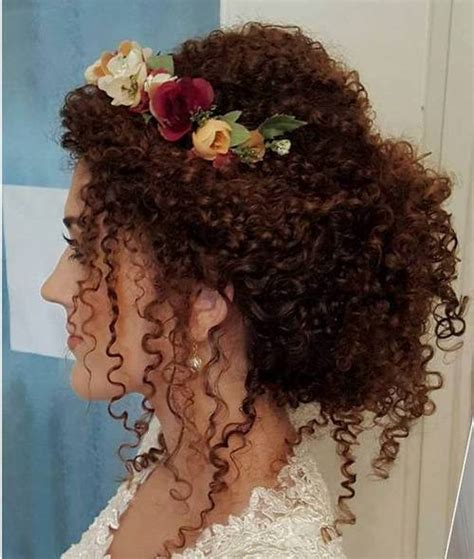 Wedding Hairstyles For Permed Hair by 40 Creative Updos For Curly Hair