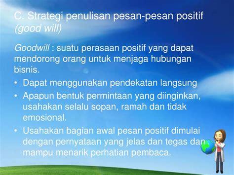ppt penulisan pesan bisnis powerpoint presentation id