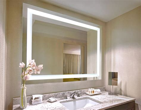 backlit mirrors for bathrooms lighted mirrors bathroom best home design 2018