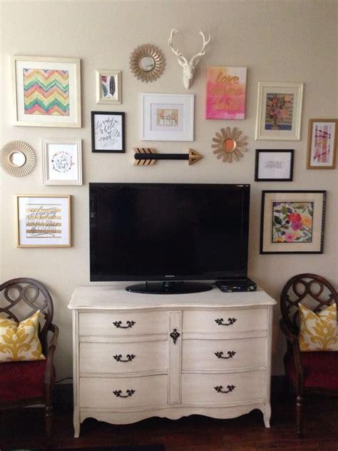 tv dressers for bedrooms gallery wall around tv liz aubuchon home pinterest