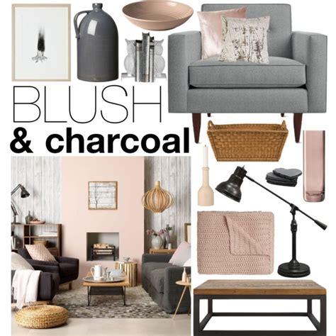 decorations blush gray copper room decor inspiration mauve home blush charcoal by emmy on polyvore featuring interior
