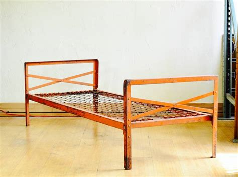jail beds orange metal prison bed at 1stdibs