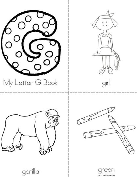coloring pages that start with g 5 best images of letter g printable book words that