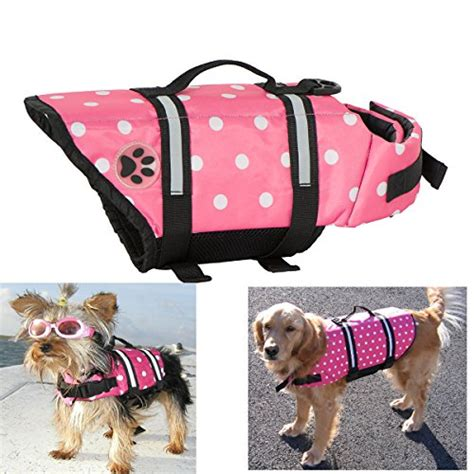 design dog jacket expawlorer pink dots medium designer dog life jacket with