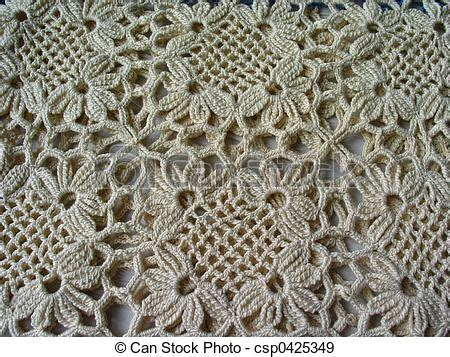 Pattern Of Vintage Crochet Lace In An Ecru Color | stock photographs of crochet lace pattern of vintage