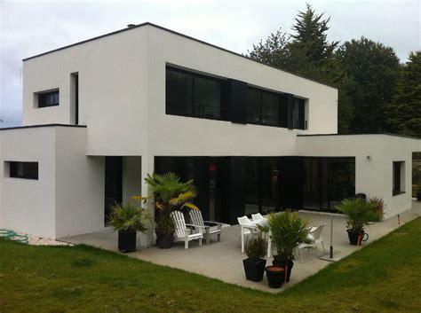 Façade Immeuble Moderne by Cuisine Maisons Contemporaines Lennon Le Berre Joncour