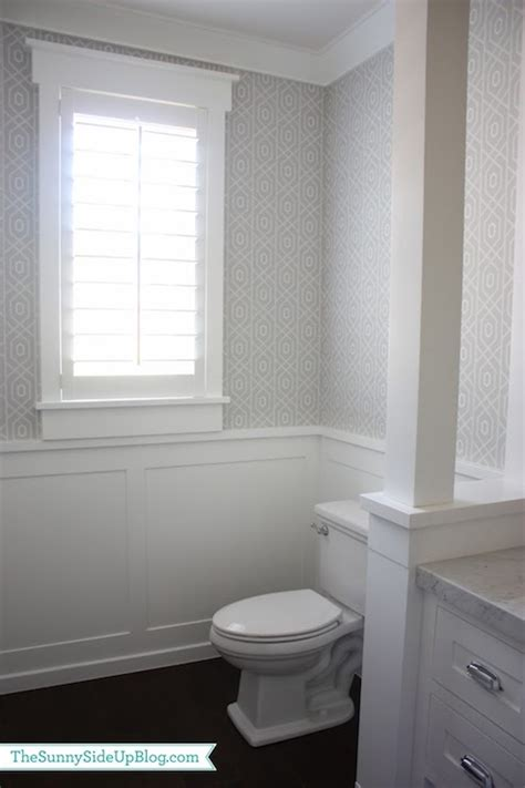 Powder Room Wainscoting Design Ideas Gray Walls White Wainscoting