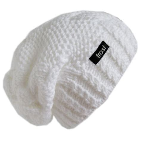 white knitted beanie hat hats winter hat for white slouchy beanie hat