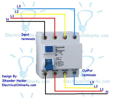 3 phase rcd wiring diagram 26 wiring diagram images
