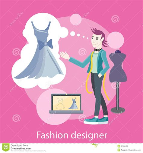 fashion design with marketing fashion designer stock vector image 52460430