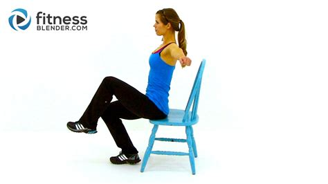 exercises in your chair at work workout at work 32 minute chair workout fitness