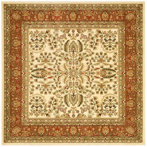 8 X 8 Area Rugs by Safavieh Lyndhurst Ivory Rust 8 Ft X 8 Ft Square Area Rug Lnh214r 8sq The Home Depot