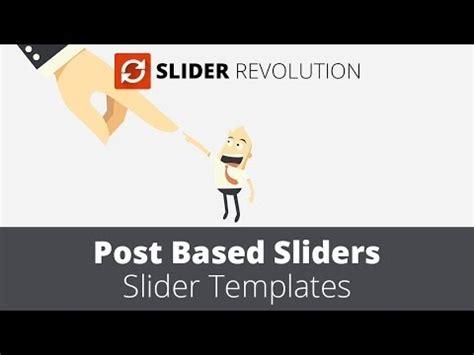 Slider Revolution 4 0 Post Based Slider Youtube Slider Revolution Templates