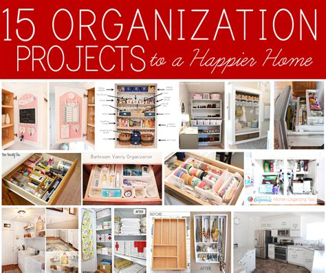 diy home organization 15 organization projects to a happier home