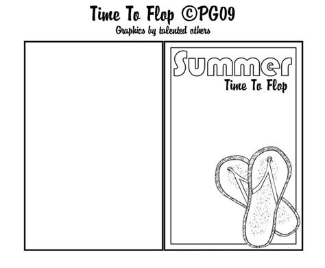 Flip Flop Card Template by 202 Best Paper Craft Themed Card Templates Images On