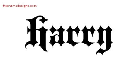 tattoo name harry harry archives free name designs