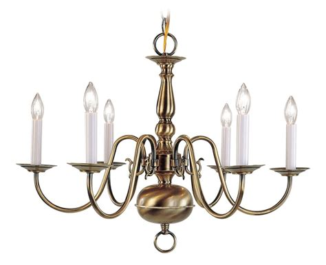 Williamsburg Light Fixtures Livex Lighting 5006 01 Antique Brass Williamsburg Up Lighting 1 Tier Chandelier With 6 Lights