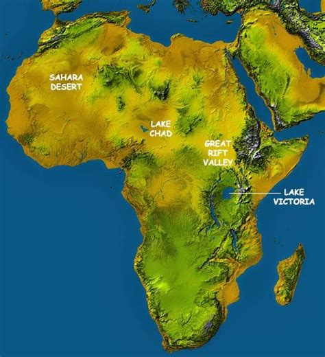 africa topographical map incredible lesson  africa