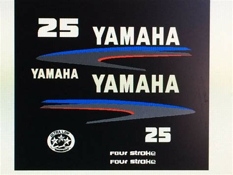 yamaha outboard motor decals for sale yamaha outboard motor decal kit 25 hp 4 stroke kit
