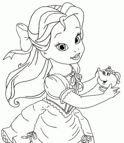 baby belle coloring pages baby princesses disney dibujos de la princesa bella para
