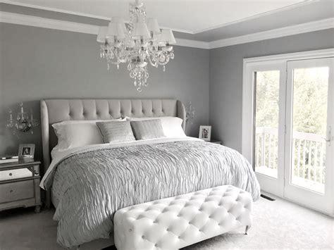 glamorous grey bedroom decorgrey tufted headboard glamorous master bedrooms pinterest grey tufted headboard grey bedroom decor gray